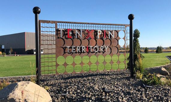 Ten Pin Territory property sign